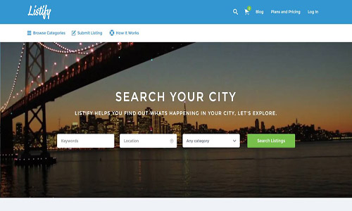 listify wordpress theme