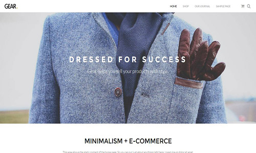 gear wordpress theme