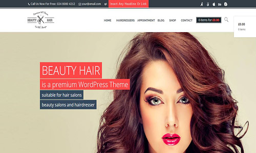beautyhair wordpress theme