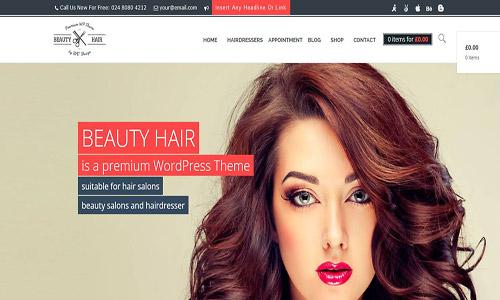 beautyhair wordpress theme