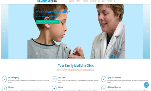 healthcare pro wordpress theme