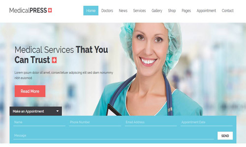 medicalpress wordpress theme