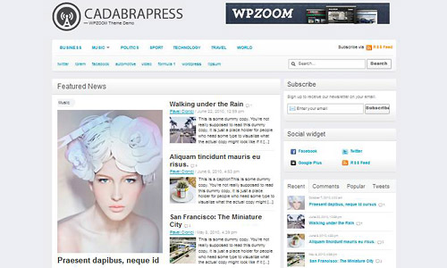 cadaprapress wordpress theme