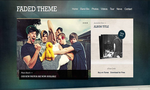 faded wordpress theme
