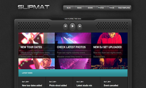 slipmat wordpress theme