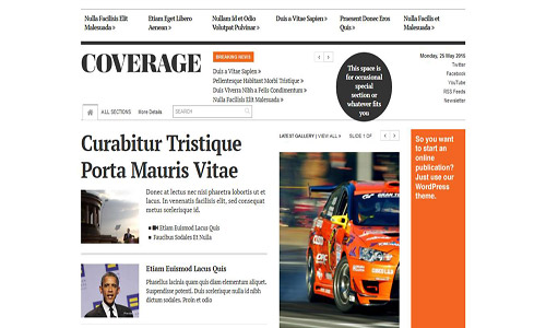 coverage wordpress theme