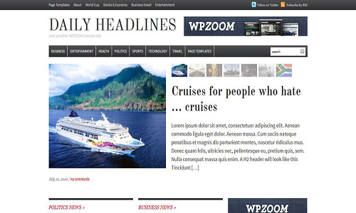 daily headline wordpress theme