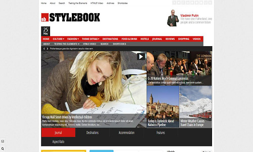 stylebook wordpress theme