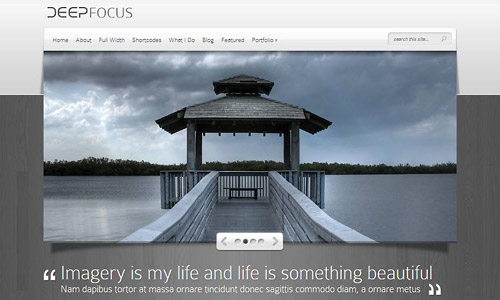 deep focus wordpress theme