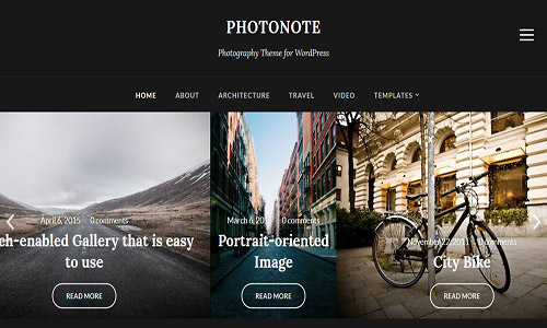 photonote wordpress theme