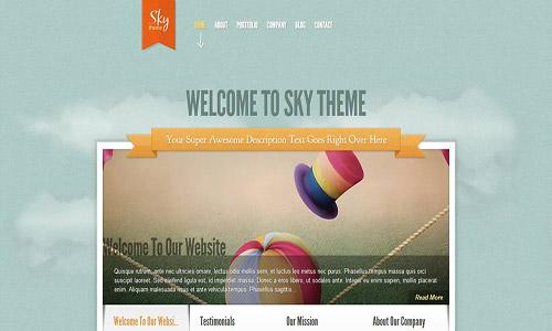 sky wordpress theme