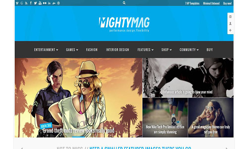 mightymag wordpress theme