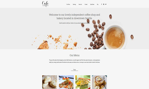 cafe elements wordpress theme