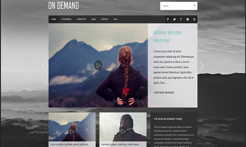 on demand wordpress theme