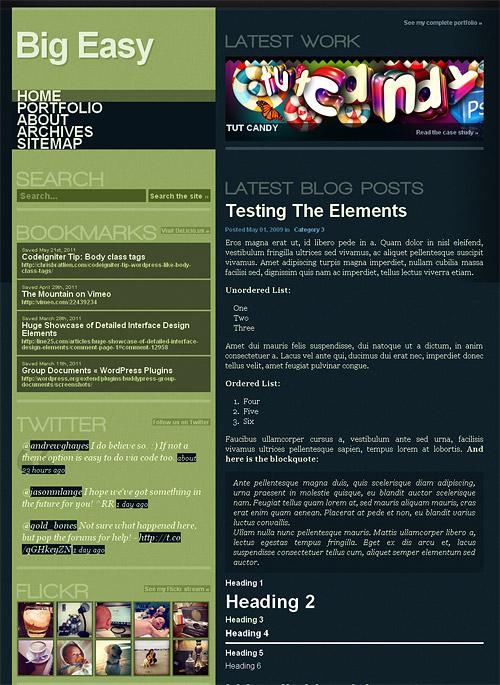 big easy wordpress theme