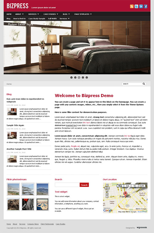 biz press wordpress theme