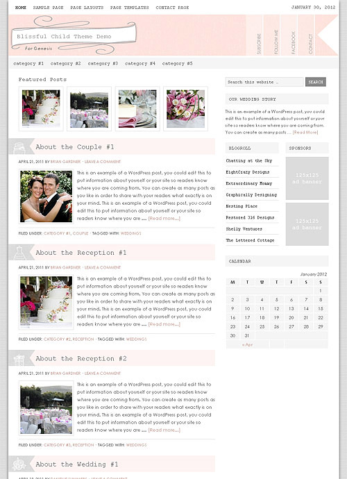 blissful wordpress theme