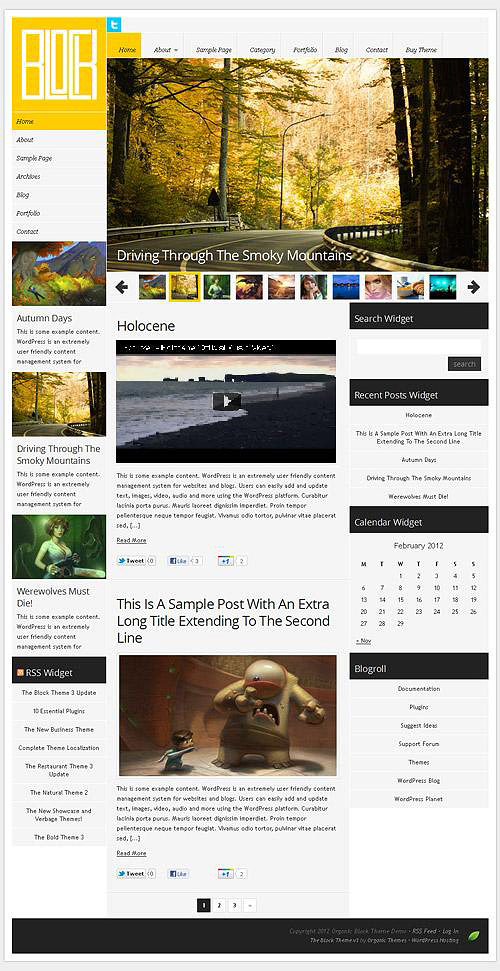 block wordpress theme