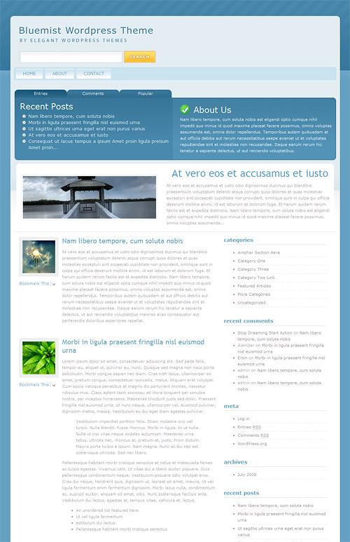 bluemist wordpress theme