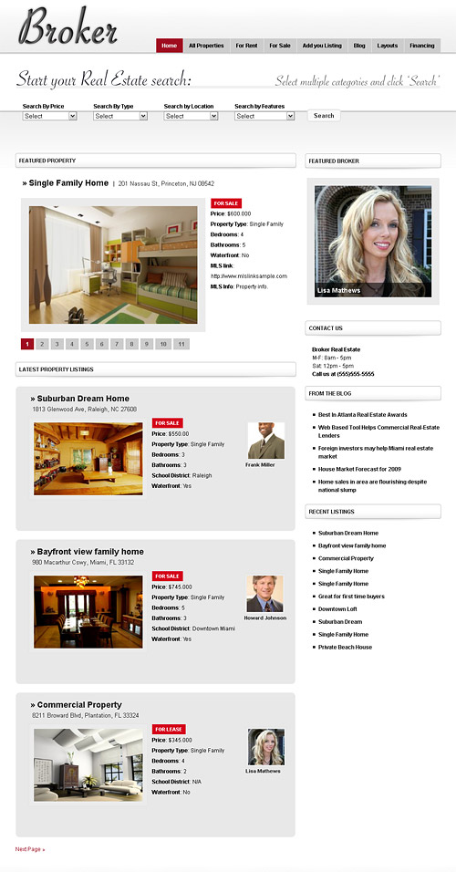 broker real estate wordpress theme