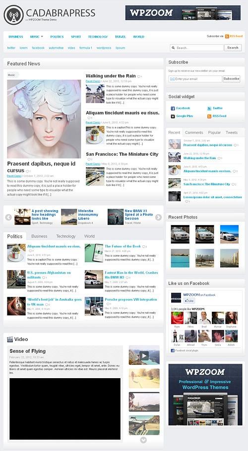 cadabra press wordpress theme