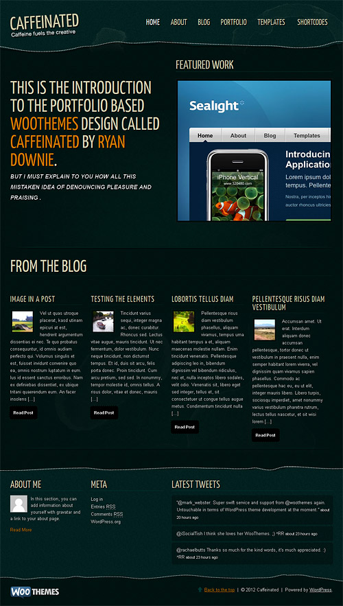 caffeinated wordpress theme
