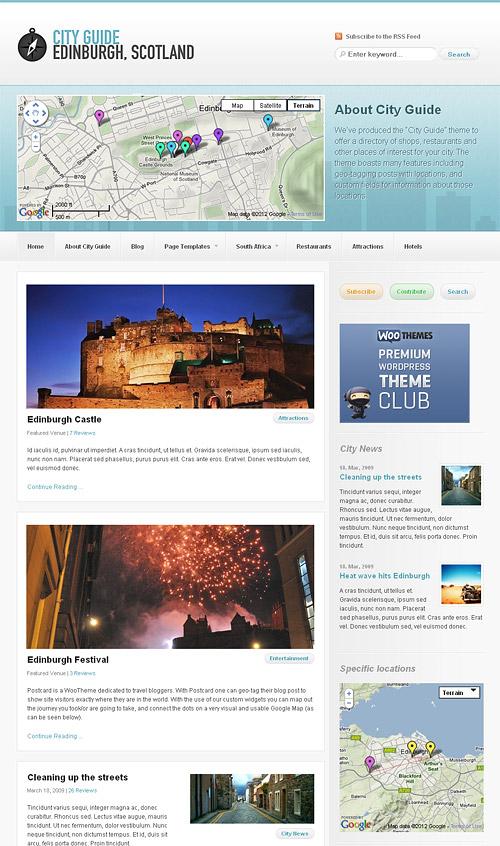 city guide wordpress theme