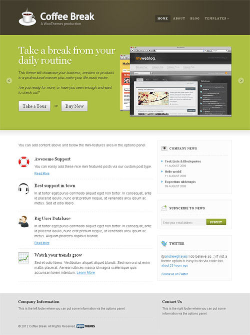 coffee break wordpress theme
