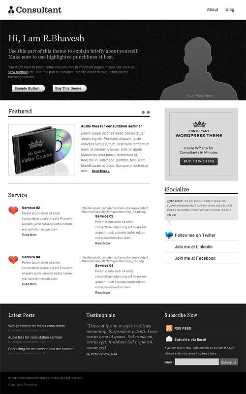 consultant wordpress theme