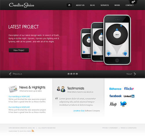 creative juice wordpress theme