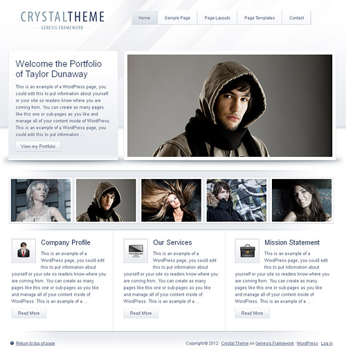 crystal wordpress theme