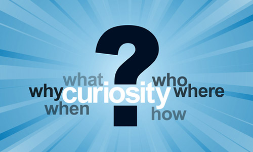 be curious about everything