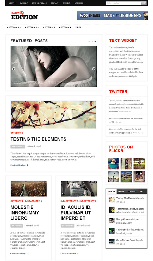 daily edition wordpress theme