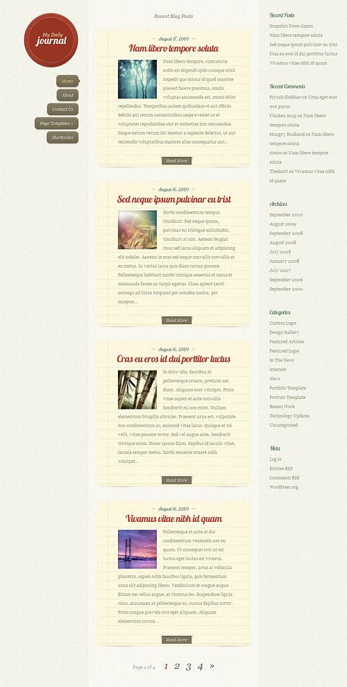 daily journal wordpress theme