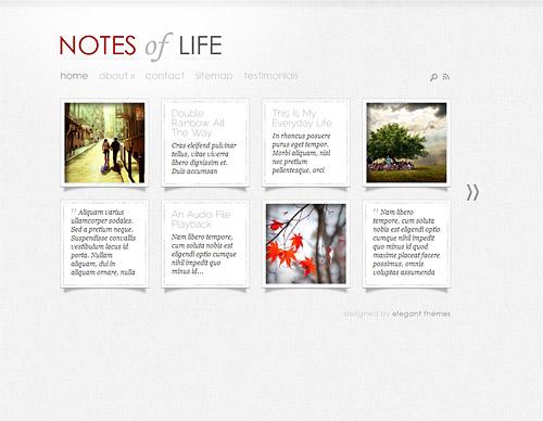 daily notes wordpress theme