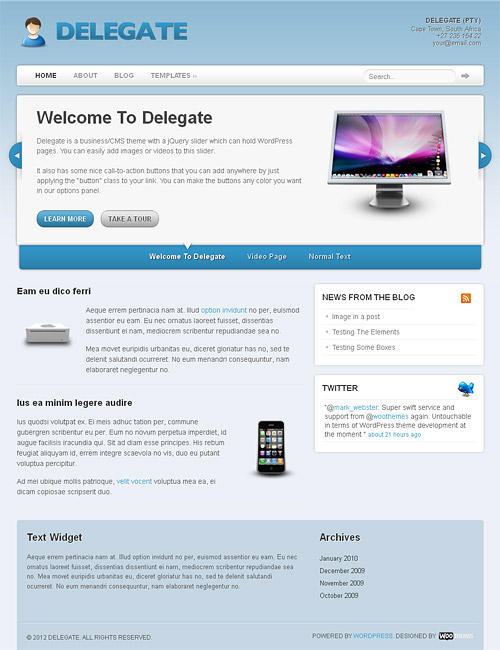 delegate wordpress theme