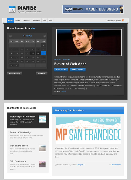 diarise wordpress theme