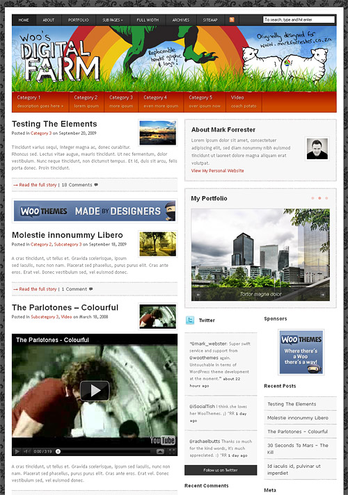 digital farm wordpress theme