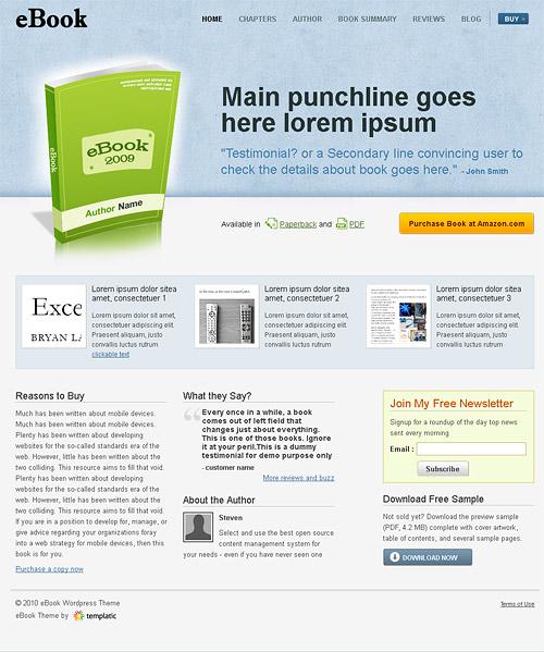 eBook wordpress theme