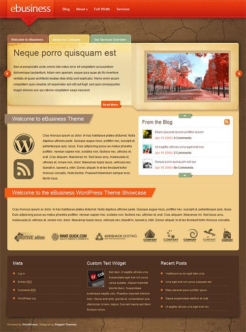 eBusiness wordpress theme