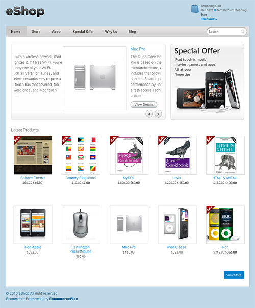 eShop wordpress theme