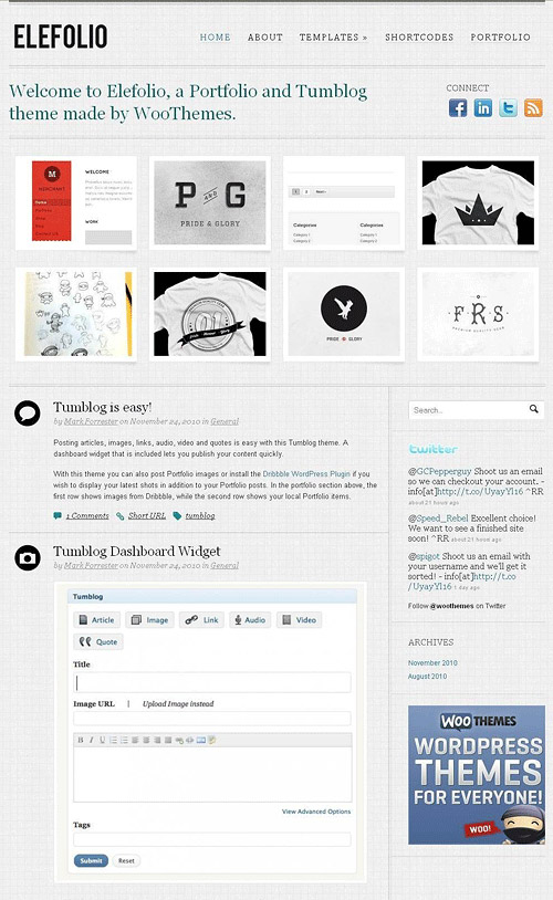 elefolio wordpress theme
