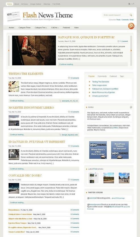flash news wordpress theme