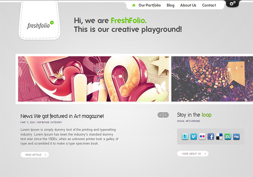 fresh folio wordpress theme