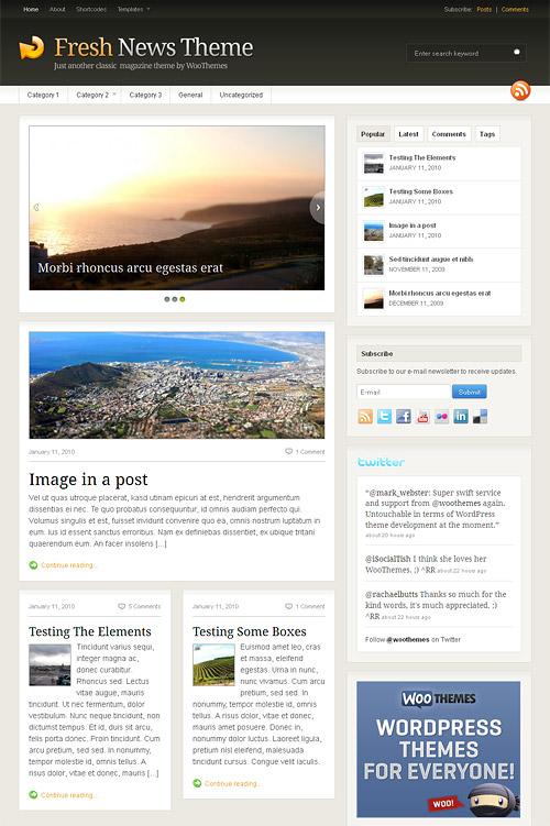fresh news wordpress theme