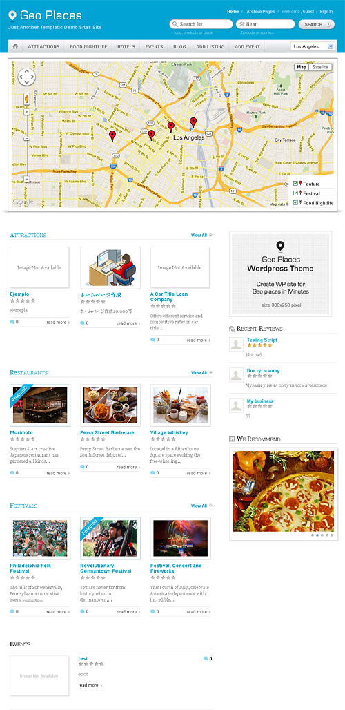 geo places wordpress theme