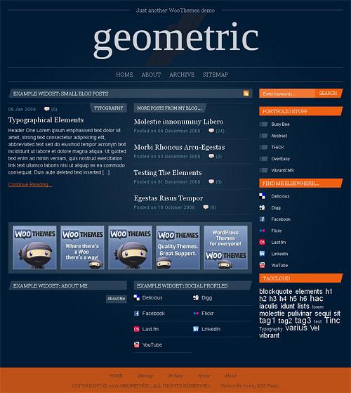 geometric wordpress theme