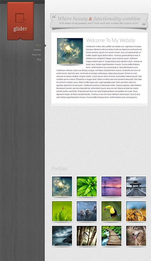 glider wordpress theme