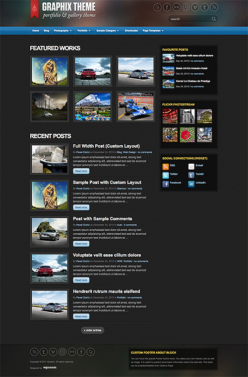 graphix wordpress theme