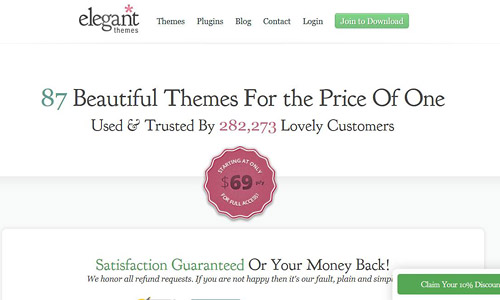 join elegant themes